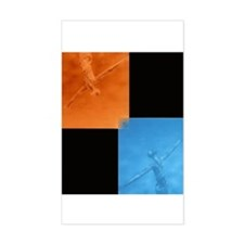Flying, Floating Jesus Rectangle Decal