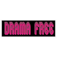 Drama Free Bumper Bumper Sticker