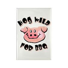 Hog Wild For BBQ Rectangle Magnet