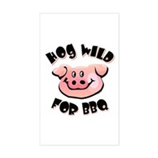 Hog Wild For BBQ Rectangle Decal