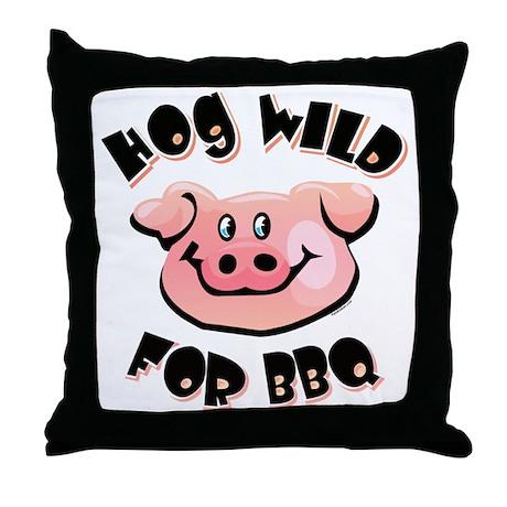 Hog Wild For BBQ Throw Pillow