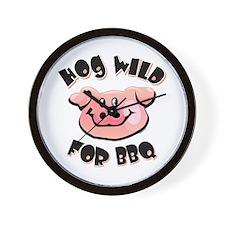 Hog Wild For BBQ Wall Clock