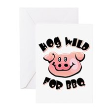 Hog Wild For BBQ Greeting Cards (Pk of 20)