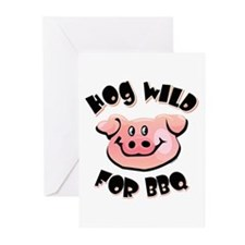Hog Wild For BBQ Greeting Cards (Pk of 10)
