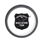VA Beach Negotiator Wall Clock