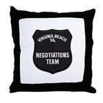 VA Beach Negotiator Throw Pillow