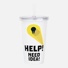 Need Help idea bulb in Acrylic Double-wall Tumbler