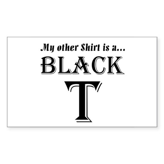 Black T Rectangle Sticker 10 pk)