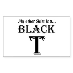 Black T Rectangle Sticker 10 pk)