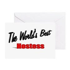"""""""The World's Best Hostess"""" Greeting Card"""