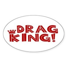 Drag King Oval Decal