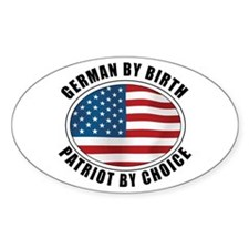 German By Birth Oval Decal