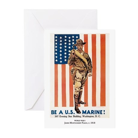 Be A U.S. Marine Greeting Cards (Pk of 10)