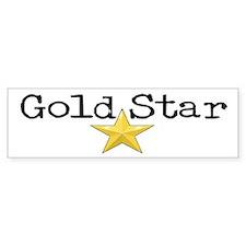 Gold Star Bumper Bumper Sticker
