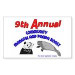 Panda Manatee Roast Rectangle Sticker