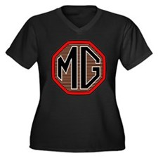 MG T-Shirt Women's Plus Size V-Neck Dark