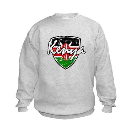 Kenyan distressed Flag Kids Sweatshirt