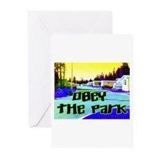 Obey The Trailer Park Greeting Cards (Pk of 10