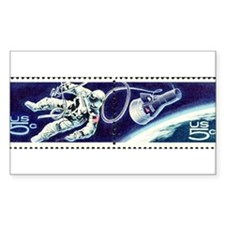 Space Stamp Rectangle Decal