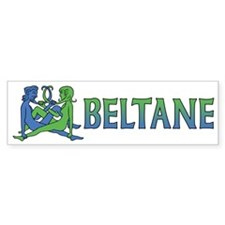 Beltane Knot Bumper Sticker (blue/green)