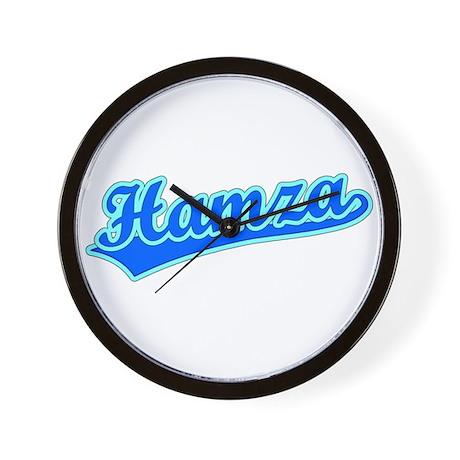 Retro Hamza (Blue) Wall Clock
