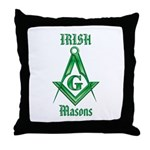 The Irish Masons Throw Pillow