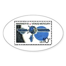 Space Stamp Oval Decal