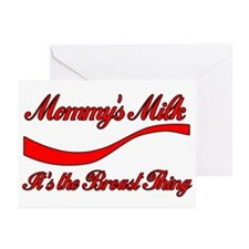 Mommy's Milk Breastfeeding Greeting Cards (Package