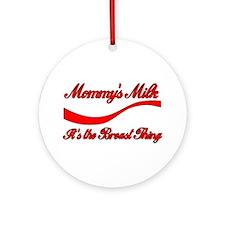 Mommy's Milk Breastfeeding Keepsake (Round)