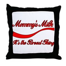 Mommy's Milk Breastfeeding Throw Pillow