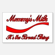 Mommy's Milk Breastfeeding Rectangle Decal