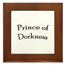 Prince of Dorkness Framed Tile