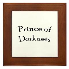 Prince of Dorkness Framed Tile