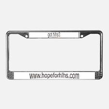 www.hopeforhlhs.com License Plate Frame