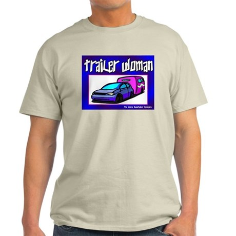 Trailer Woman Ash Grey T-Shirt