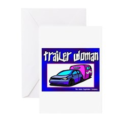 Trailer Woman Greeting Cards (Pk of 10)