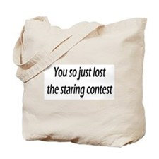 Funny Staring boobs Tote Bag