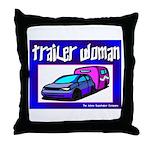 Trailer Woman Throw Pillow