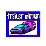 Trailer Woman Postcards (Package of 8)