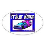 Trailer Woman Oval Sticker