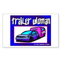 Trailer Woman Rectangle Decal