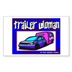 Trailer Woman Rectangle Sticker