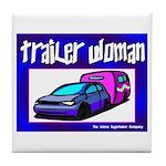 Trailer Woman Tile Coaster