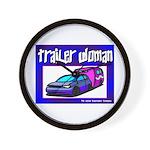 Trailer Woman Wall Clock
