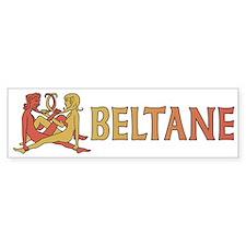 Beltane Knot Bumper Sticker (red/orange)