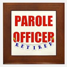 Retired Parole Officer Framed Tile