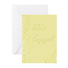 We're Engaged 2y Greeting Cards (Pk of 20)