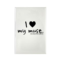 Love My Muse Rectangle Magnet (100 pack)