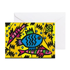 Fish Commute Greeting Cards (Pk of 20)