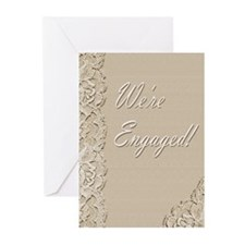 We're Engaged 2 Greeting Cards (Pk of 20)